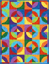 Rainbow Go Round Quilt Pattern