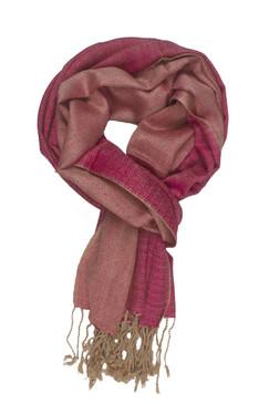 In-Sattva Colors - Elegant Petite Diamond Print Scarf Stole - Pink