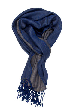 In-Sattva Colors - Elegant Petite Diamond Print Scarf Stole - Dazzling Blue