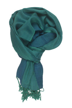 In-Sattva Colors - Elegant Petite Diamond Print Scarf Stole - Teal