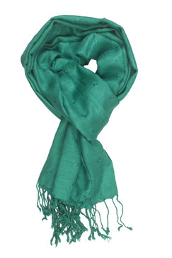 In-Sattva Colors - Woven Square Printed Solid Colored Scarf Stole - Green