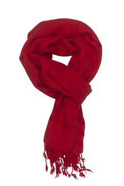 In-Sattva Colors - Elegant Solid Color Scarf Stole - Red