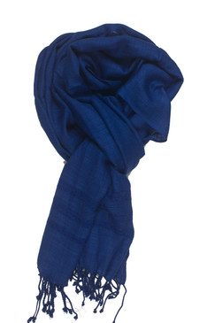 In-Sattva Colors - Elegant Solid Color Scarf Stole - Blue