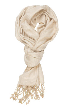 In-Sattva Colors - Two tone Horizontal Stripes Scarf Stole - Tan