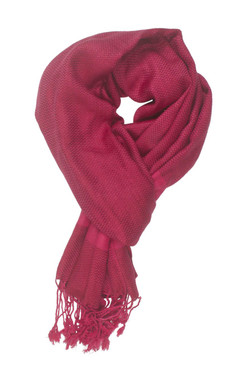 In-Sattva Colors - Two tone Horizontal Stripes Scarf Stole - Fuschia