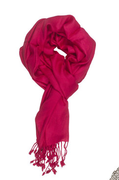 In-Sattva Colors - Soft and Elegant Solid Color Scarf Stole - Fushcia