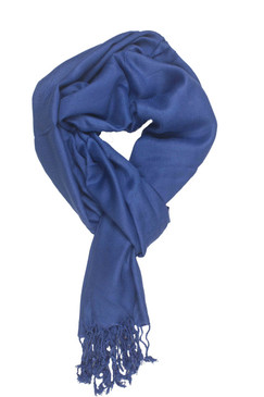 In-Sattva Colors - Soft and Elegant Solid Color Scarf Stole - Blue