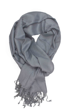 In-Sattva Colors - Soft and Elegant Solid Color Scarf Stole - Grey