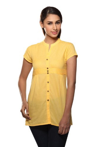 Pintucked Kurta Tunic