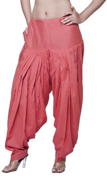 Women's Indian Ethnic Bottomwear Patiala Pants- Coral