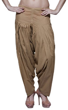 Womens Indian Ethnic Bottomwear Patiala Pants- Beige