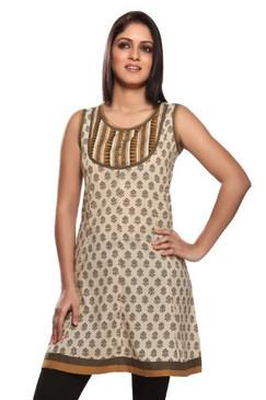 æWomen's Indian Mix N Match Kurta Beige