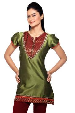 Women's Indian MixNMatch Kurta Green