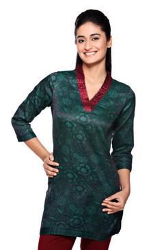 Women's Indian MixNMatch V-Neck Kurta