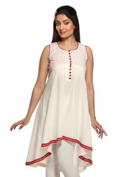 Women's Indian Mix N Match White Kurta Tunic