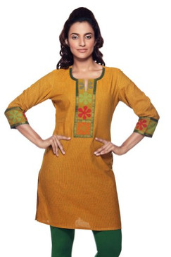 Women's Indian MixNMatch Kurta Yellow