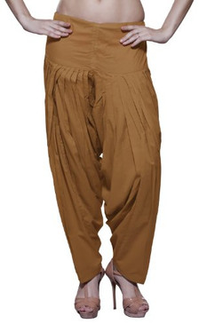 Womens Indian Ethnic Patiala Pants Ochre