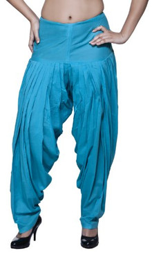 Womens Indian Ethnic Patiala Pants Turquoise