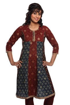 Women's Indian Mix N Match Maroon Kurta Tunic