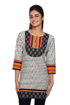 Women's Indian Mix N Match Kurta Tunic White