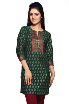 Women's Indian MixNMatch Kurta-Green
