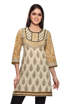 Women's Indian Mix N Match Kurta Beige