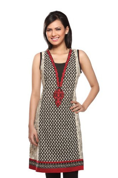 Women's Indian Mix N Match Kurta Tunic Black