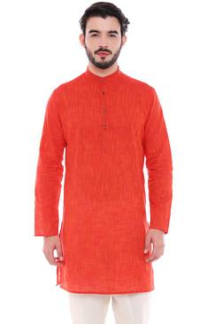 In-Sattva Men's Indian Classic Pure Cotton Kurta Tunic with Mandarin Collar