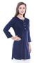 Women's Indian Short Kurta Tunic - Navy Blue | In-Sattva