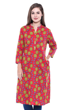 Women's Indian Printed Kurta Tunic | In-Sattva