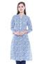 Women's Indian Kurta Tunic - Aqua Blue | In-Sattva