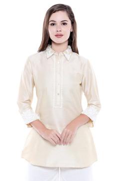 Women's Classic Kurta Tunic Shirt  - Front | In-Sattva