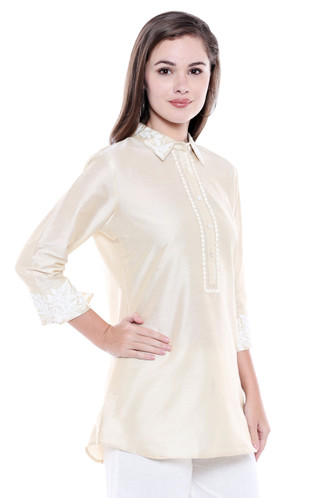 Women's Classic Kurta Tunic Shirt  - Side | In-Sattva