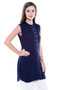 Women's Indian Kurta Tunic - Sleeveless - Side | In-Sattva