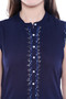Women's Indian Kurta Tunic - Sleeveless - Garment details | In-Sattva