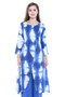 Long Kurta Tunic Women's Cotton Printed Rich Vibrant Colors  | In-Sattva - Front