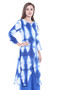 Long Kurta Tunic Women's Cotton Printed Rich Vibrant Colors  | In-Sattva - Side