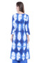 Long Kurta Tunic Women's Cotton Printed Rich Vibrant Colors  | In-Sattva - Back
