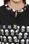 Long Kurta Tunic Shirt - 100% Cotton Artisan Print | In-Sattva - Garment details