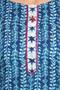 Kurta Tunic Women's Indian Pure Cotton Leaf Print - Garment details   In-Sattva