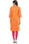 Kurta Tunic Shirt Dress Women's Indian Floral Print Cotton - Back | In-Sattva