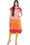 Kurta Tunic Women's Indian Long Pink Cotton Unique Detailing - Full Display | In-Sattva