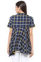 Exclusive Checkered Print In-Sattva Top Tunic - Back