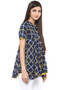 Exclusive Checkered Print In-Sattva Top Tunic - Side right