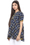 Exclusive Checkered Print In-Sattva Top Tunic - Side left