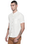 Short Sleeves Button Down Men's Shirt with Banded Collar - Side1 | In-Sattva