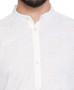 White Pure Cotton Men's Kurta Tunic - Garment Details | In-Sattva