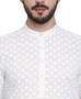 Classic Indian White Men's Kurta Tunic - Garment Details | In-Sattva