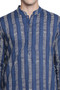 Men's Indian Kurta Tunic with Block Print: Pure Cotton Fabric - Garment details | In-Sattva