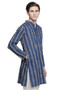 Men's Indian Kurta Tunic with Block Print: Pure Cotton Fabric - Side | In-Sattva